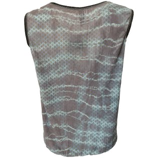 Blue Tank Top with Metallic Overlay by Gregory Parkinson