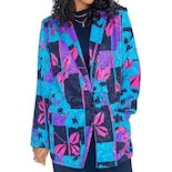 80's Brightly Colored Abstract Multi Print Blazer by Tan Jay