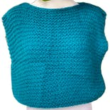 80's Green Hand Knit Sweater Vest