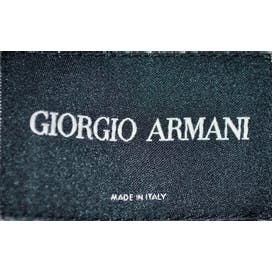 Armani Gray and Brown Diamond Pattern Jacket by Giorgio Armani