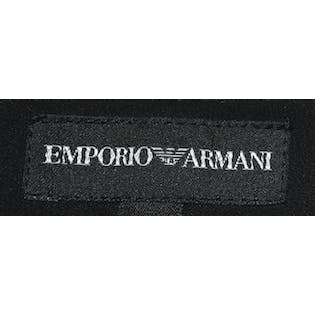 Emporio Armani Black Satin Gown