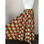 another view of 90's Bright Patterned Cotton Skirt