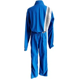 Bright Blue Coveralls with Stripe Detail