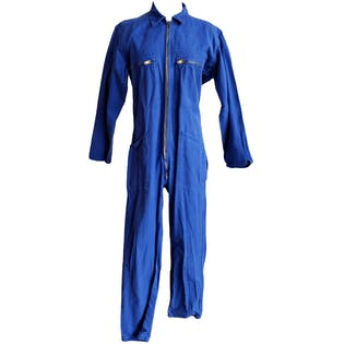 Vibrant Blue Zip Up Coveralls