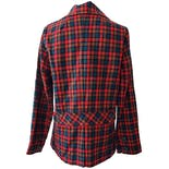 another view of Bright Red and Blue Plaid Blazer