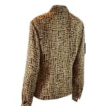 another view of Brown & Beige Abstract Print Blouse by Rena Rowan