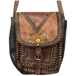 Brown Aztec Tooled Leather Purse
