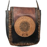 another view of Brown Aztec Tooled Leather Purse