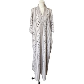 Striped Embroidered Caftan