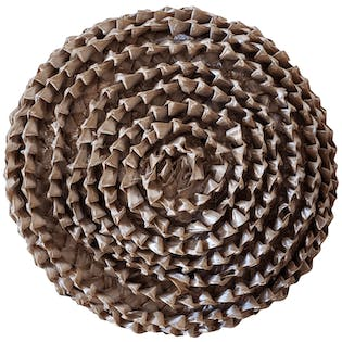 Brown Petal Woven Straw Hat