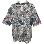 Multicolor Pastel Graphic Short Sleeve Button Down by Act Iii