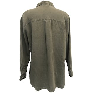 Olive Linen Long Sleeve Button Up by Chico's Design