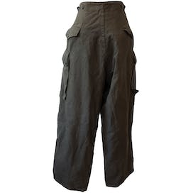 Button Up Thick Green Cargo Pants