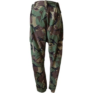 Camo Print Pants with Cargo Pockets