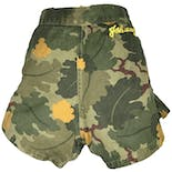"Camouflage Shorts with Side Zipper and ""Johnny"" Embroidery"
