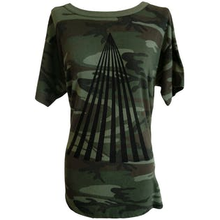 Camouflage Tee with Triangle Logo by OSK