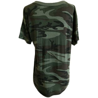 Camouflage T-Shirt with Triangle Logo by OSK