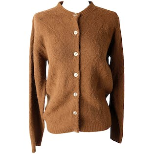Brown Acrylic Knit Sweater by Wintuk