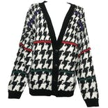 Multicolor Long Sleeve Knitted Houndstooth Buttoned Cardigan by Cabin Creek