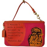 another view of Cashin-Carry Graphic Coach Clutch by Coach