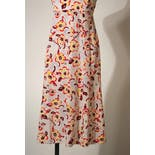 another view of Multicolor Floral Print Silk Sleeveless Dress by Chanel