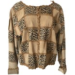 Cheetah and Beige Patchwork Jacket