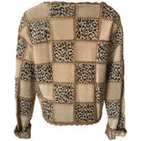 another view of Cheetah and Beige Patchwork Jacket