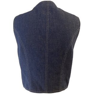Classic Western Style Denim Vest by West Cal 45