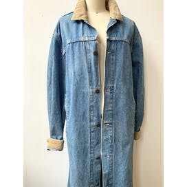 80's Denim Duster Coat by Levi's