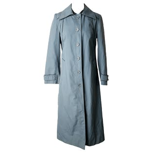 Blue Waterproof Trench Coat