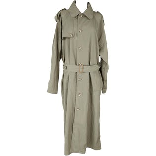 Olive Green Trench Coat with Belt by Banana Republic