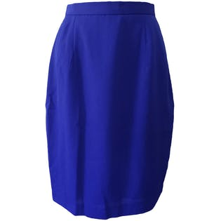 70's Cobalt Blue Textured Pencil Skirt by Koret