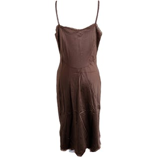 Coffee Colored Slip with Lace Bust by Vanity Fair