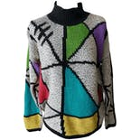 Color Block Turtle Neck Sweater by Spirit