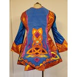 another view of Colorful Applique Costume Dress