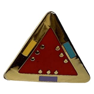 For Marie Colorful Triangle Stud Earrings by Laurel Burch