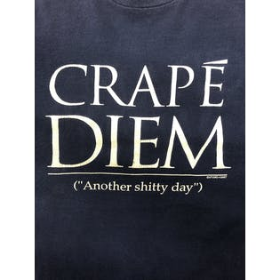 Crapé Diem Graphic T-Shirt by Fruit of the Loom