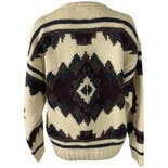 another view of 90's Cream Wool Sweater with Geometric Print by Banana Republic