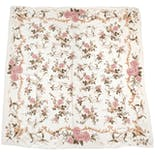 Cream Scarf with Pink Floral by Ralph Lauren