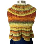 another view of Crotchet Cropped Bohemian Sweater Vest Shrug