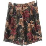 Dark Multicolor Floral Bermuda Shorts by Rafaella