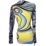another view of Deadstock Emilio Pucci Fitted Abstract Long Sleeve by Rossignol For Emilio Pucci