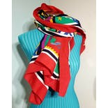 another view of Deadstock NWT Nautical Wrap Scarf by Diane Freis