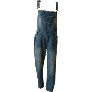 Demin Overalls with Pouch and Patch Pocketsby Wish List Jeans
