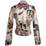 another view of Denim Pop Art Blazer by The End Firenze Italy