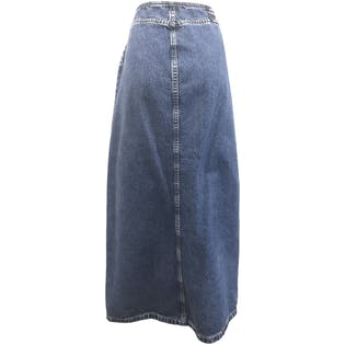90's Denim Maxi Skirt
