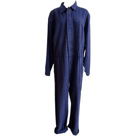 Denim Wash Striped Coveralls