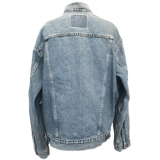 Distressed Washed Blue Jean Jacket
