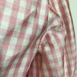 another view of 60's Pink and White Gingham Full Skirt Dress