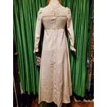 another view of 60's/70's Off White Deadstock Black Label Gunne Maxi Dress by Gunne Sax